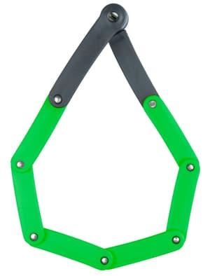 Lucchetto pieghevole con serratura a cilindro, B/730/80 Green