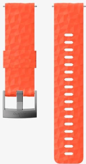 24mm Silicone Strap Coral/Gray M