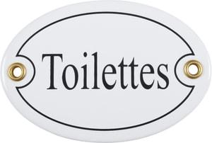 Panneau en émail Toilettes