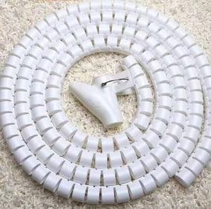 Durabase Tubo portacavi flessibile 3 m bianco