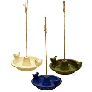 Keramik-Vogeltränke