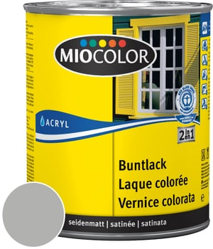 Acryl Vernice colorata satinata Grigio Argento 750 ml