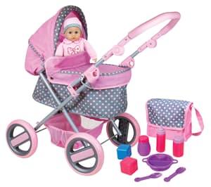 Doll Kinderwagen mit Puppe und Accessores