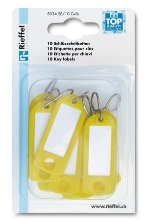 Etichette per chiavi giallo