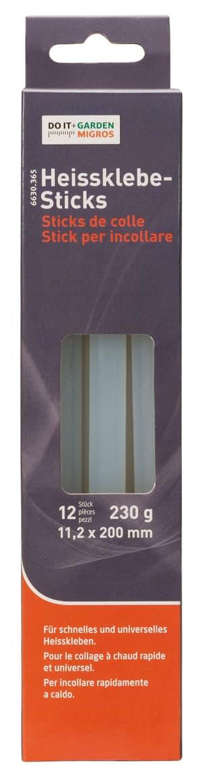 Heissklebe-Sticks, 12 Stück, 11,2x200mm