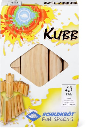 Funsports Kubb, jeu d'échecs et jeu de quille Viking grand modèle en bois (FSC®)