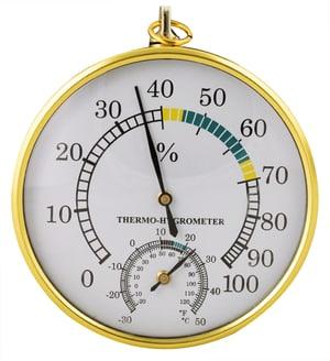 CLIMATE Thermo-hygromètre en laiton