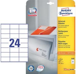 Universal-Etiketten A4 70x36mm 25 Blatt
