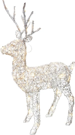 LED Rattan deer white ALVAR