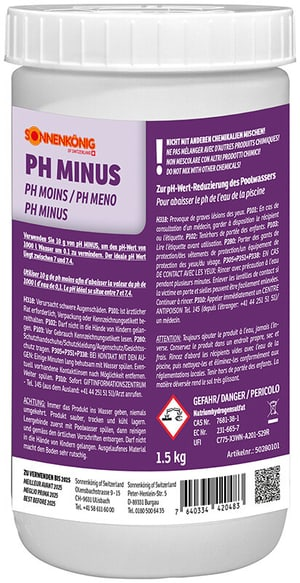 Sonnenkönig pH Minus Granulat