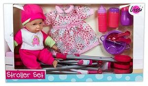 30 cm Baby mit Kinderwagen