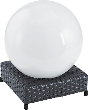 Eglo Lampe solaire LED en rotin anthracite