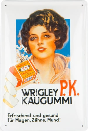 Werbe-Blechschild Wrigley