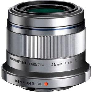 M.Zuiko DIGITAL 45mm f/1.8 Objektiv silber