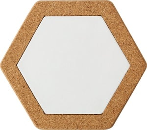 Korkuntersetzer Hexagon