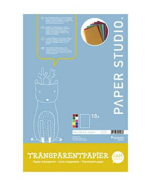 Transparentpapier farbig 20 x 30 cm, 10 Blatt