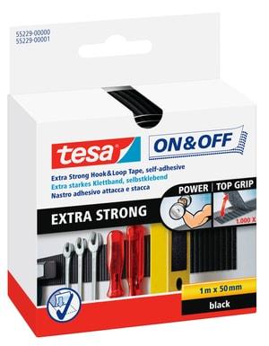 On & Off® Extra Stark Klettband 50mm:100cm schwarz
