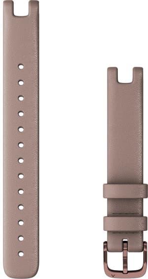 Lily bracelet 14mm cuir italien taupe avec parties en moka