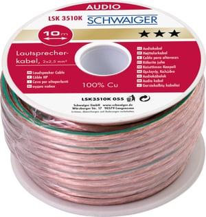 Cable d'haute-parleur 2x2.5mm2 transparent