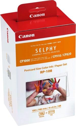 Jeu d'encre/papier au format carte postale Canon RP-108 pour Selphy