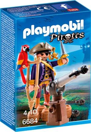 PLAYMOBIL Pirates Capitaine pirate avec canon 6684