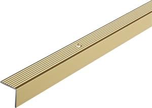 Treppen-Profil 19 x 20mm alu messing 1m