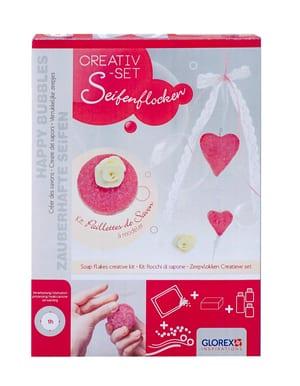 Kit créatif paillettes de savon coeurs