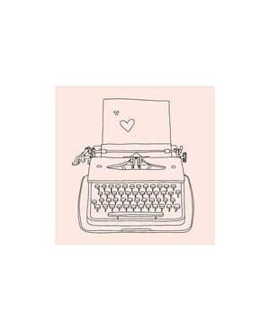 M&B Stamp, Machine à écrire