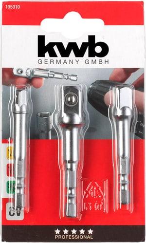 Adaptersatz für Steckschlüssel, 3-tlg.