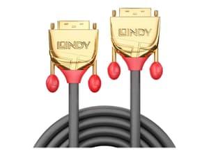 DVI-D Dual Link Kabel, Gold Line 5m
