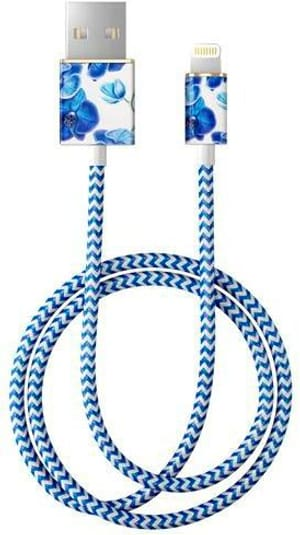 """Kabel 1.0m, Lightning->USB  """"Baby Blue Orchid"""""""