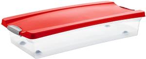 Boîte pour papier cadeau rouge métallisé