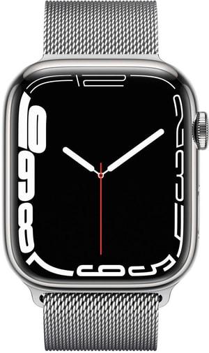 Watch Series 7 GPS + Cellular, 41mm Silver  Milanese Loop
