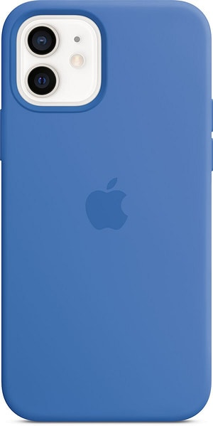 iPhone 12/12 Pro Silicone Case MagSafe Capri Blue