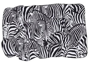 Asciugamano Zebra nero-bianco 50x100cm