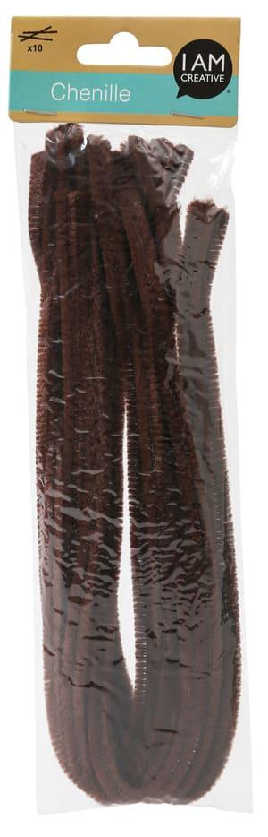 Chenilledraht, 9mm, 50cm, braun