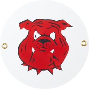 Panneau en émail Symbol Hundekopf