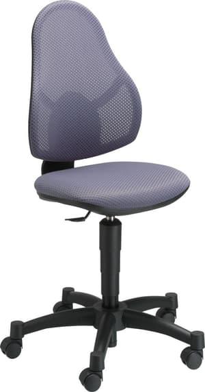 KENT chaise de bureau adolescent gris