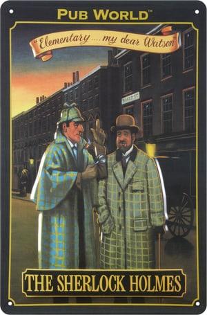 Signe de tôle publicitaire Pub World, The Sherlock
