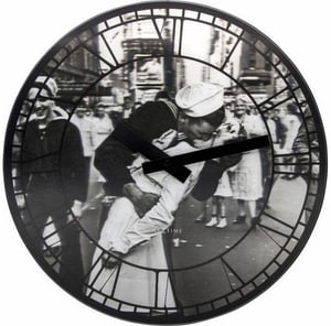 Horloge Murale Embrasse-moi à New York Durc