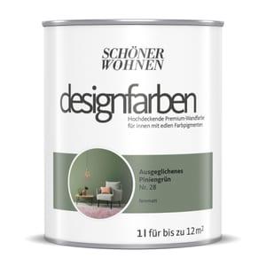 Designfarbe Piniengrün 1 L
