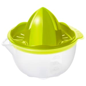 ONDA Zitruspresse 0.3l mit Behälter, Kunststoff (PP) BPA-frei, transparent/grün