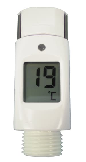 Thermometer per doccia bianco