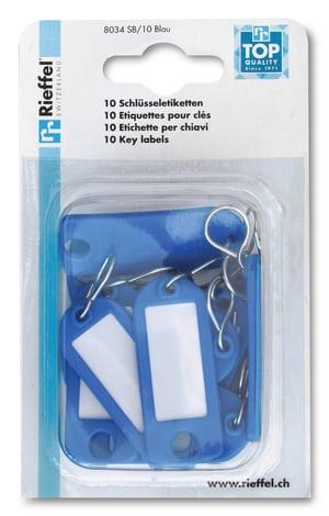 Etiquettes pour clés bleues