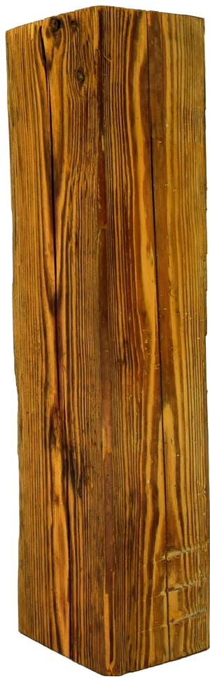 Poutre de vieux bois 100-140 x 100-140 x 500 mm