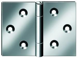 Tischscharnier mit Schraube verzinkt 60 x 20 mm