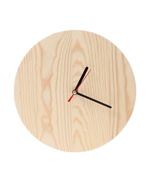 orologio in legno con orologio