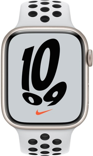 Watch Nike Series 7 GPS, 45mm Starlight Aluminium Case with Pure Platinum/Black Nike Sport Band
