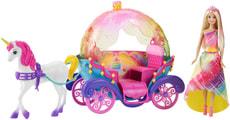 Regenbogen Prinzessin, Einhorn und Kutsche