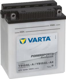 Batterie moto YB12AL-A / YB12AL-A2 12V 12Ah 120A
